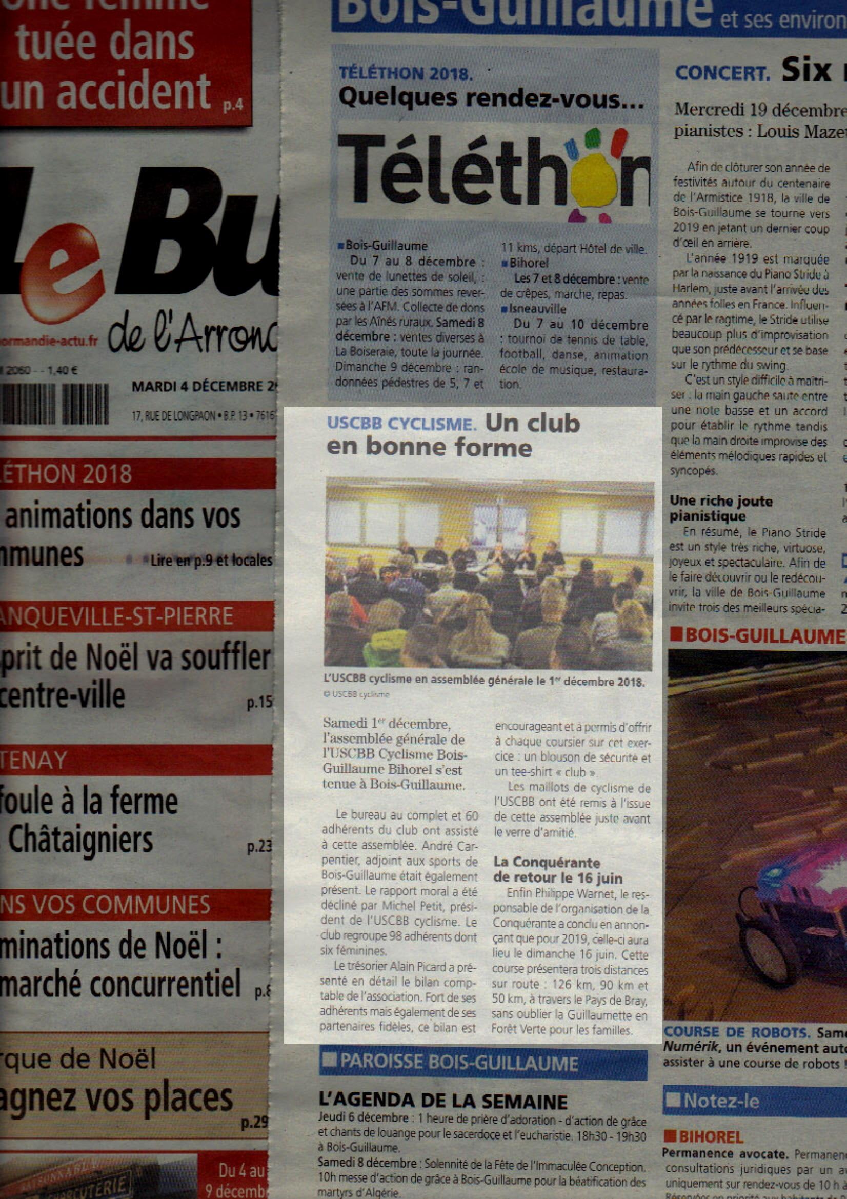 18 04 12 Le Bulletin De Rouen AG USCBB Cyclisme-1