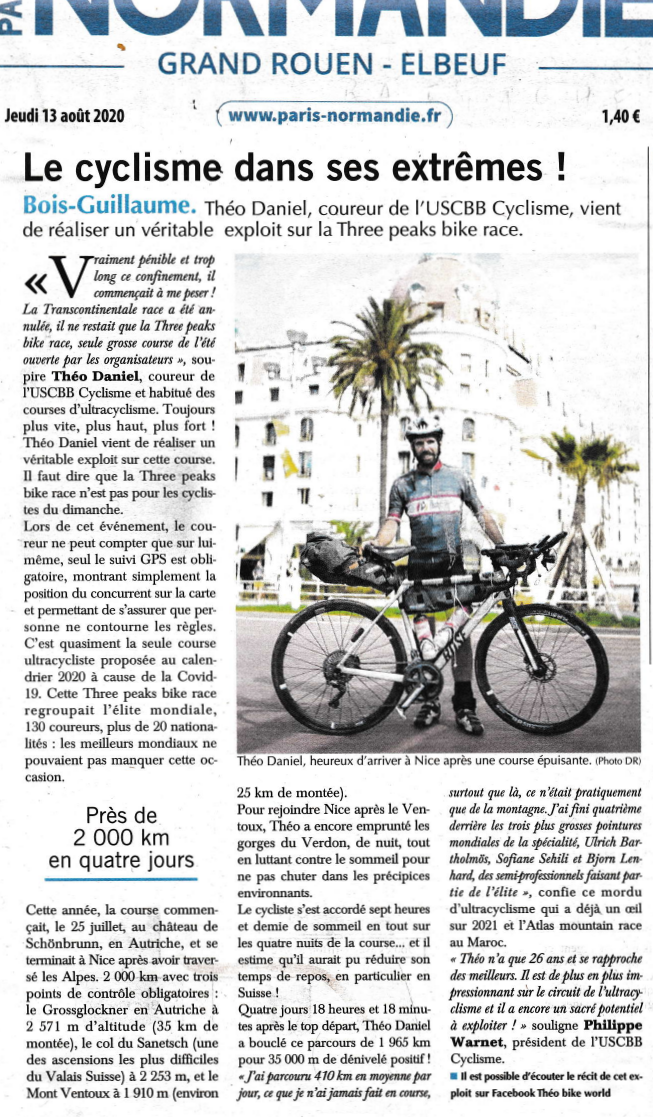 20 0813 PNdie Théo 3 Peaks bike race