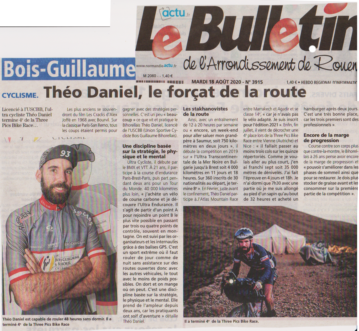 Bulletin Rouen 8. 2020 Théo Daniel