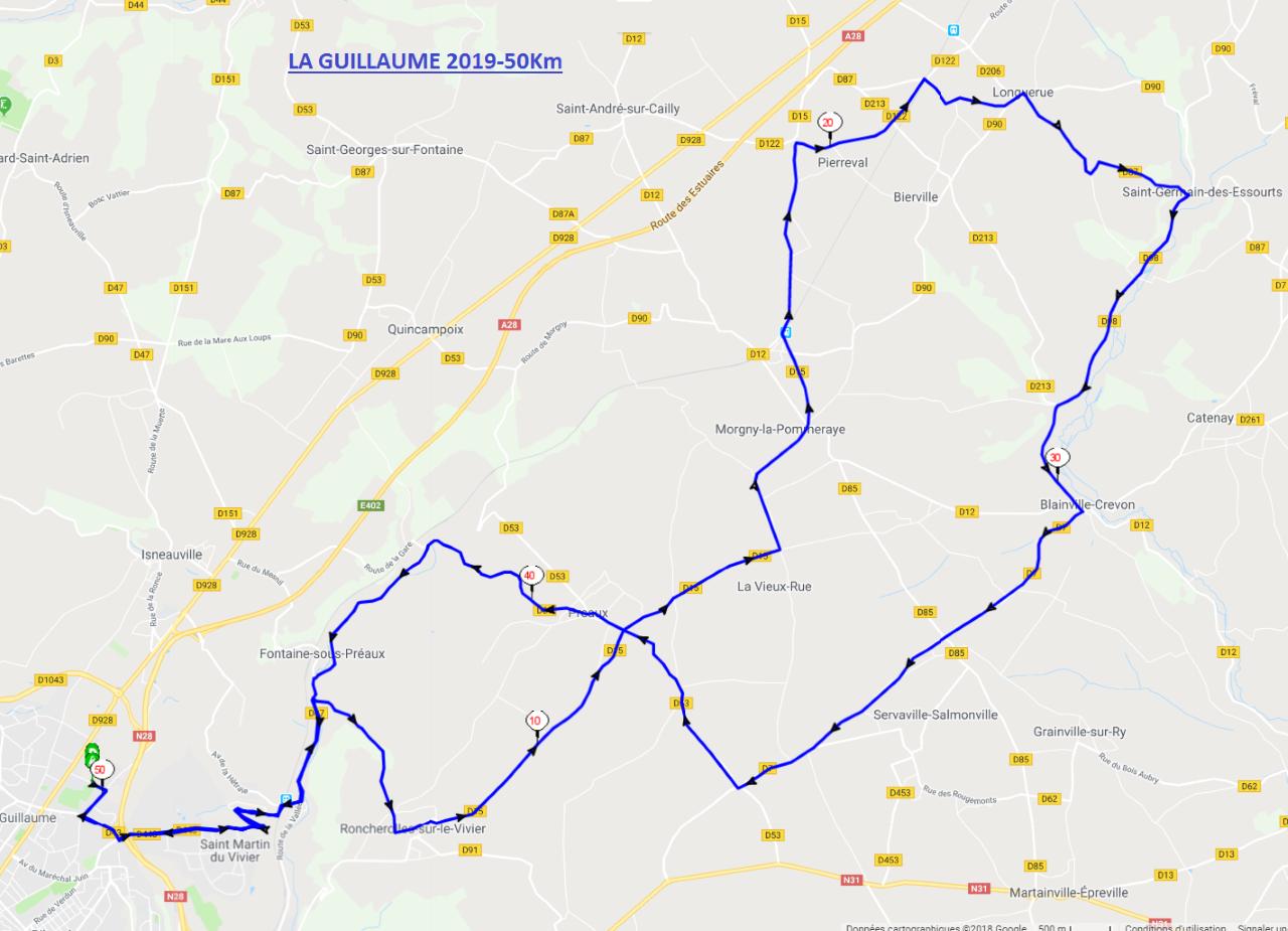 Parcours La Guillaume 2019